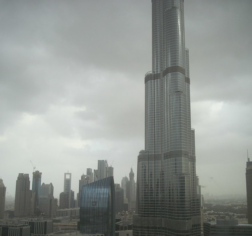 Burj Khalifa, Cloudy Day