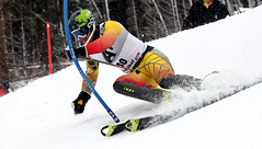 Sasha Zaitsoff skis in his third career World Cup slalom and his first in Kitzbühel, Austria.