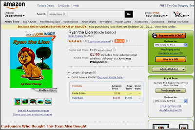 Ryan the Lion ebook on Amazon