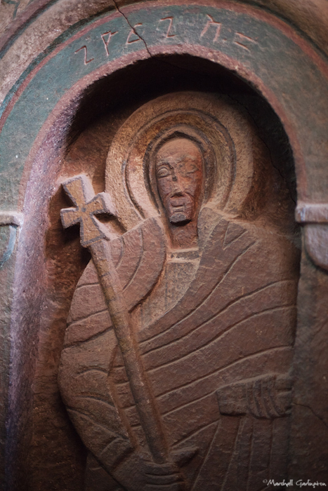 Carved saint