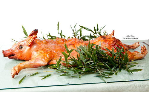 Roasted whole pig (烤全豬); sourced from Pat LaFrieda