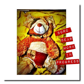 Boro Bear #shreveport #louisiana #fiberart #textileart #art #kathrynusher