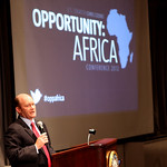 Photo of Senator Coons speaking at Opportunity: Africa 2012