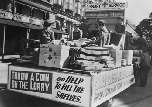 Book Depot float, Red Cross Procession, Brisbane, 1944