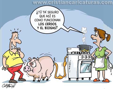 Las Caricaturas de Cristian Hernndez Granja de cerdos y Biogas