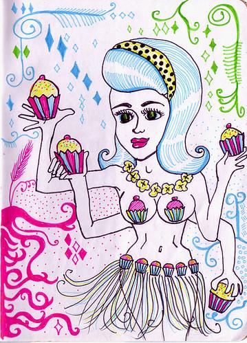 The Hula Cupcake Deity