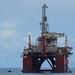 La plataforma petrolifera ODN Ttay IV zarpó del Puerto de La Luz de Las Palmas de Gran Canaria