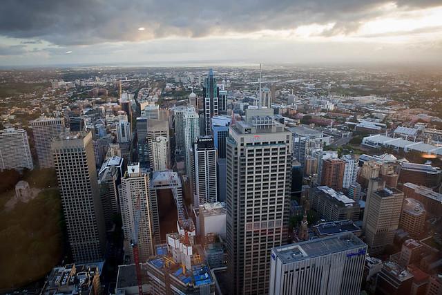 Sydney z wysokości 250m