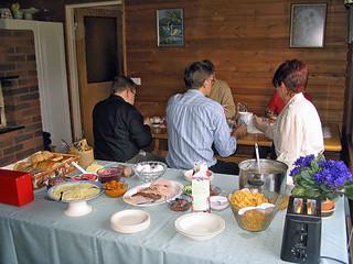 Having breakfast at Visatupa