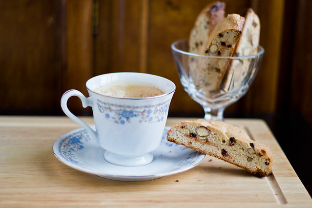 Biscotti with Almonds and Dried Pomegranate