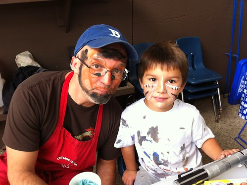Face painting at Cottage