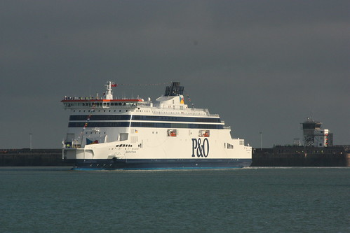Spirit of France first arrival at Dover