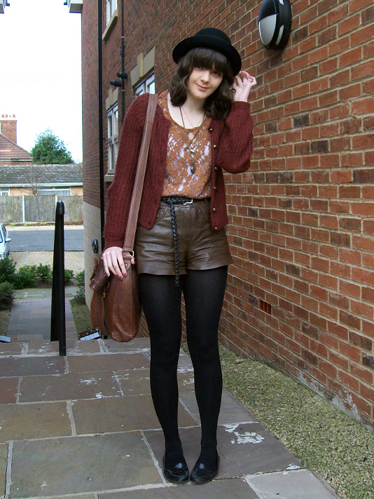 brown, leather, lace