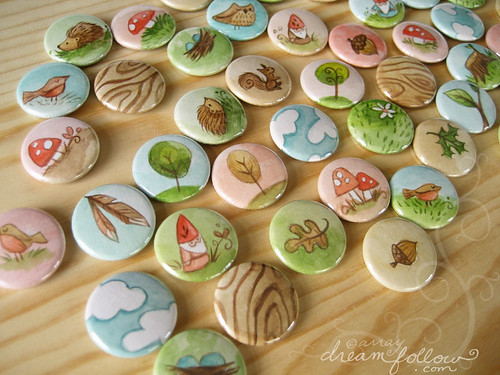 nature buttons
