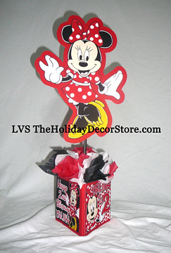 Customized Minnie Mouse Birthday Party Supplies Decor Centerpiece