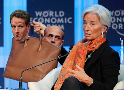 HEY HAVE YOU SEEN WHO'S IN LAGARDE'S BAG by Colonel Flick