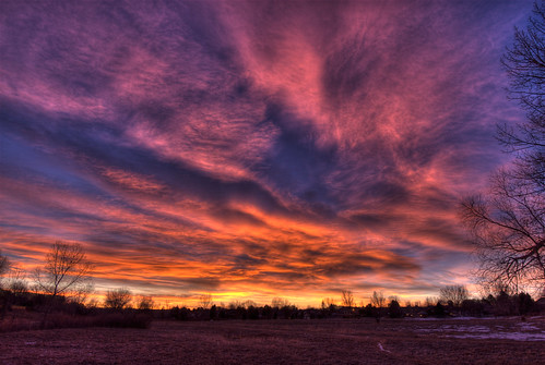 park winter sunrise landscape colorado denver littleton 201201