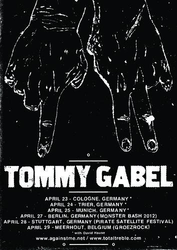 Tommy Gabel Europe Solo Dates