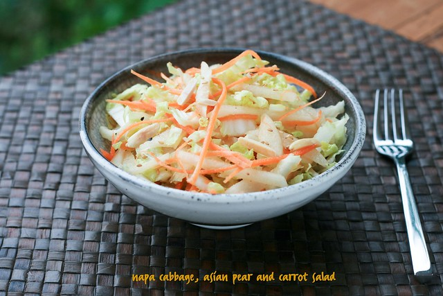 Napa Cabbage, Asian Pear & Carrot Salad