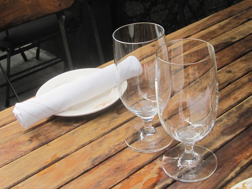 Wine Glasses and Table Setting