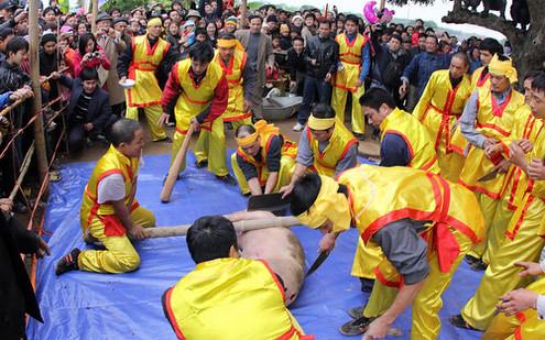 6794336565 0ebbfc4b46 Lễ hội Chạy lợn ở Hà Nội Nóng bừng 3 phút mổ lợn khao quân