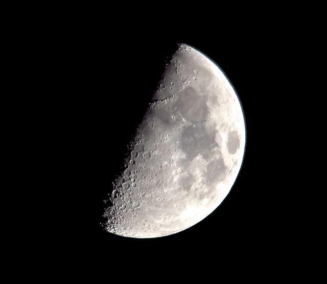 Tonights 55% Moon