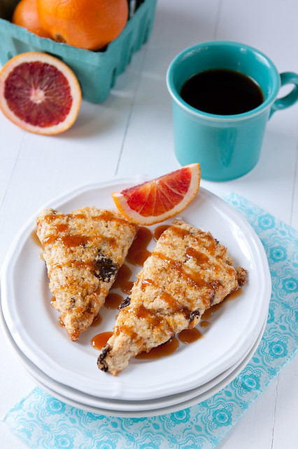 Cherry-Orange Cream Scones