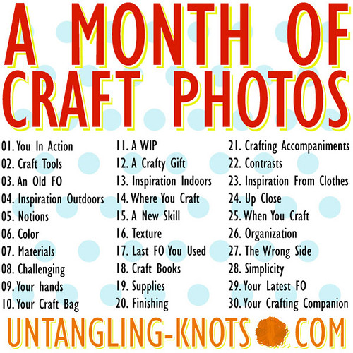 A Month of Crafty Photos