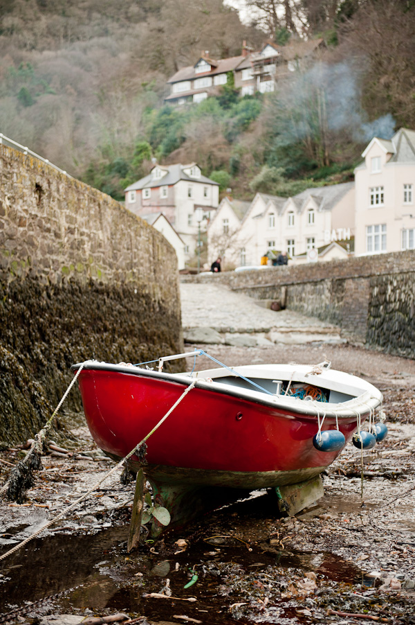 Lynmouth red boat