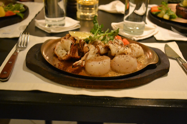 Charcoal Grilled Mixed Seafood Set, Angus Steak House