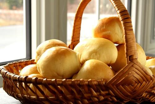 Nadia G's Soft Little Breads w/ bacon + onions
