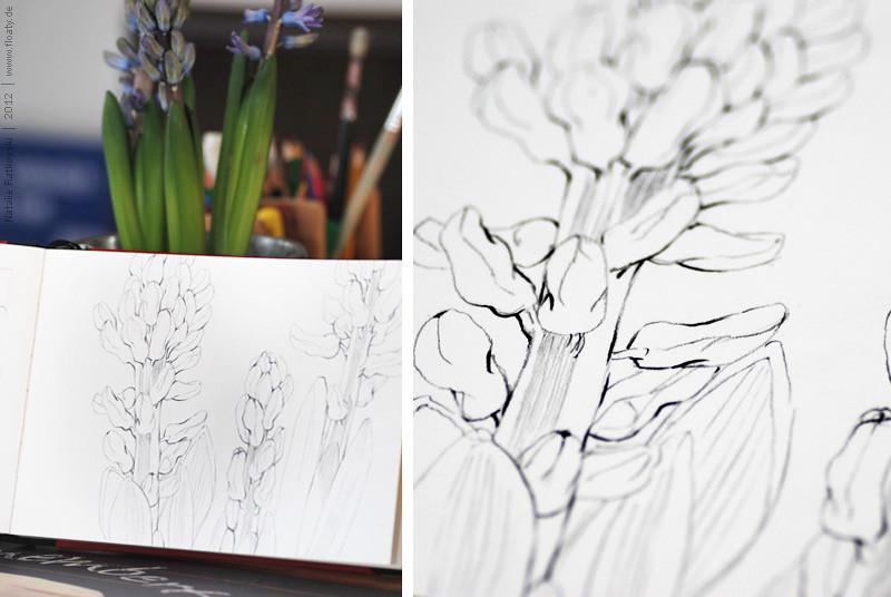 """My """"365"""" sketchbook, steps"""