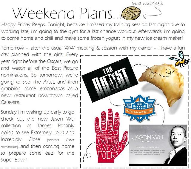 Weekend Plans 2.3.12