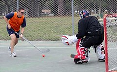 roller hockey(0.0), roller in-line hockey(0.0), ice hockey position(0.0), bandy(0.0), stick and ball games(1.0), ball hockey(1.0), sports(1.0), street sports(1.0), team sport(1.0), street hockey(1.0), hockey(1.0), player(1.0), ball game(1.0), athlete(1.0),