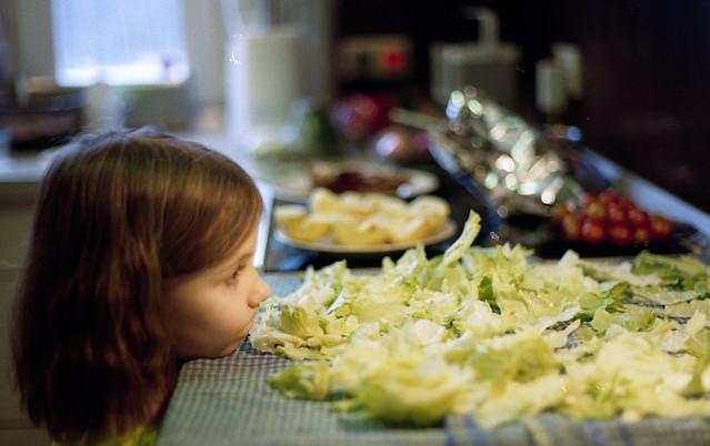 Liście sałaty.