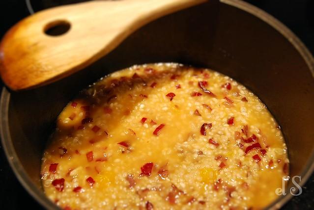 Risotto noix de saint-jacques agrumes