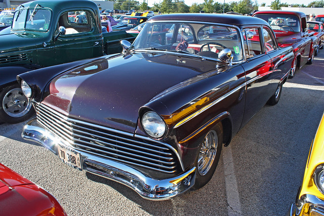 1956 ford customline 2 door sedan hot rod 2 of 7 for 1956 ford customline 2 door hardtop