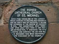 Photo of Cathedral Church of St Michael, Coventry black plaque