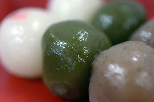 dango, Japanese rice dumpling