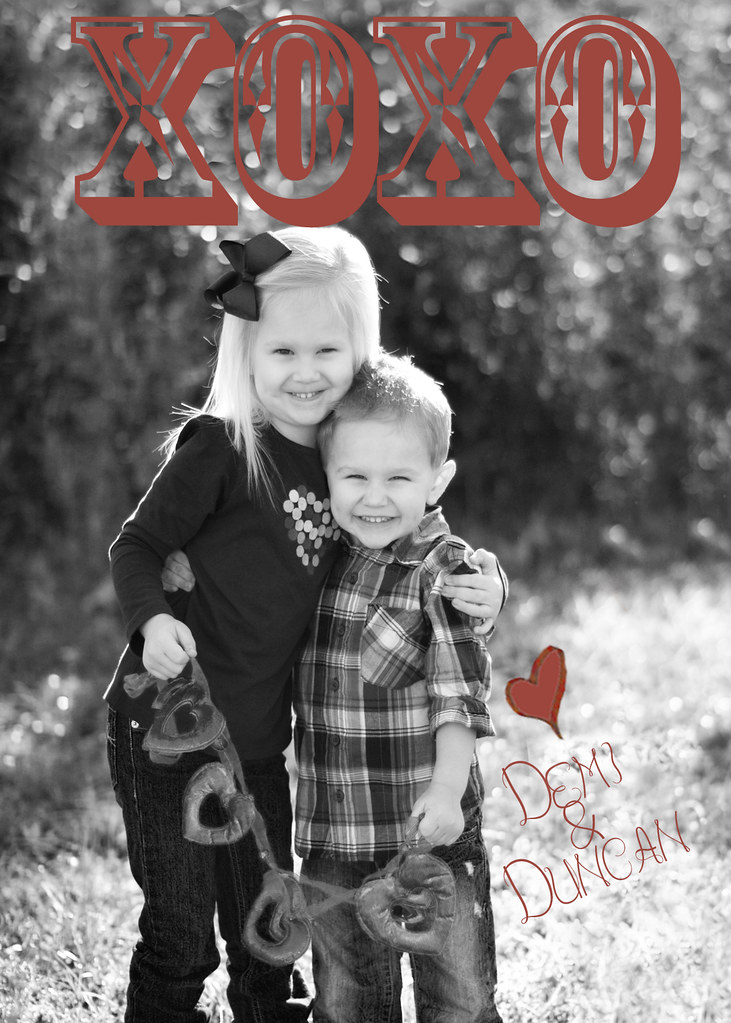 Parker Valentine card custom photography