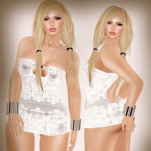 A&A Fashion Sannu Dress white