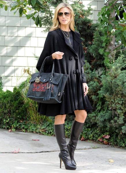 Heide klum Wears Knee High Boots