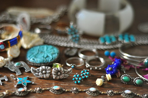 jetsam from the jewelry drawer