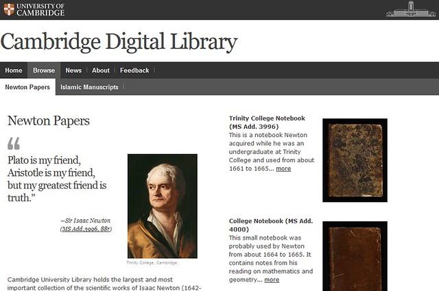 Los trabajos de Isaac Newton online