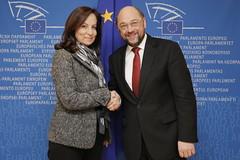 Συνάντηση με τον Πρόεδρο του Ευρωκοινοβουλίου Martin Schulz