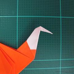 วิธีการพับกระดาษเป็นรูปไดโนเสาร์ (Origami Dinosaur) 022