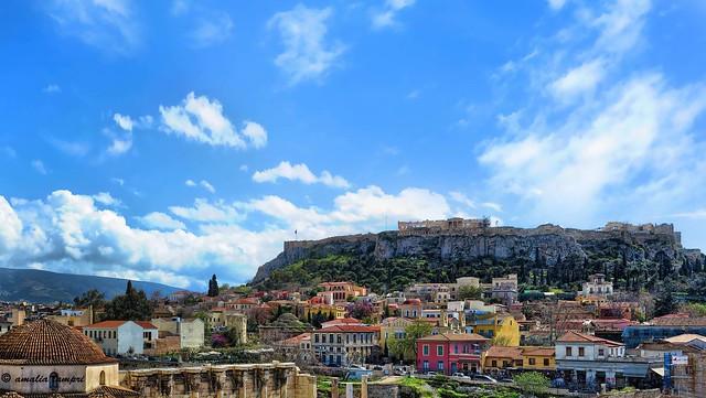 Below the Acropolis