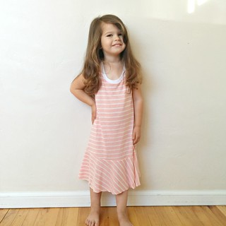 pink stripe racer dress