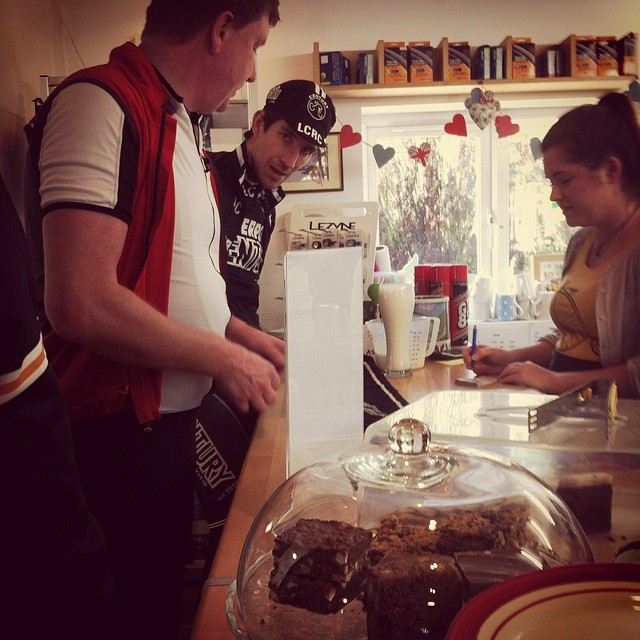 Ian the ginger god and Kev getting the orders in at the fabulous eureka cafe.