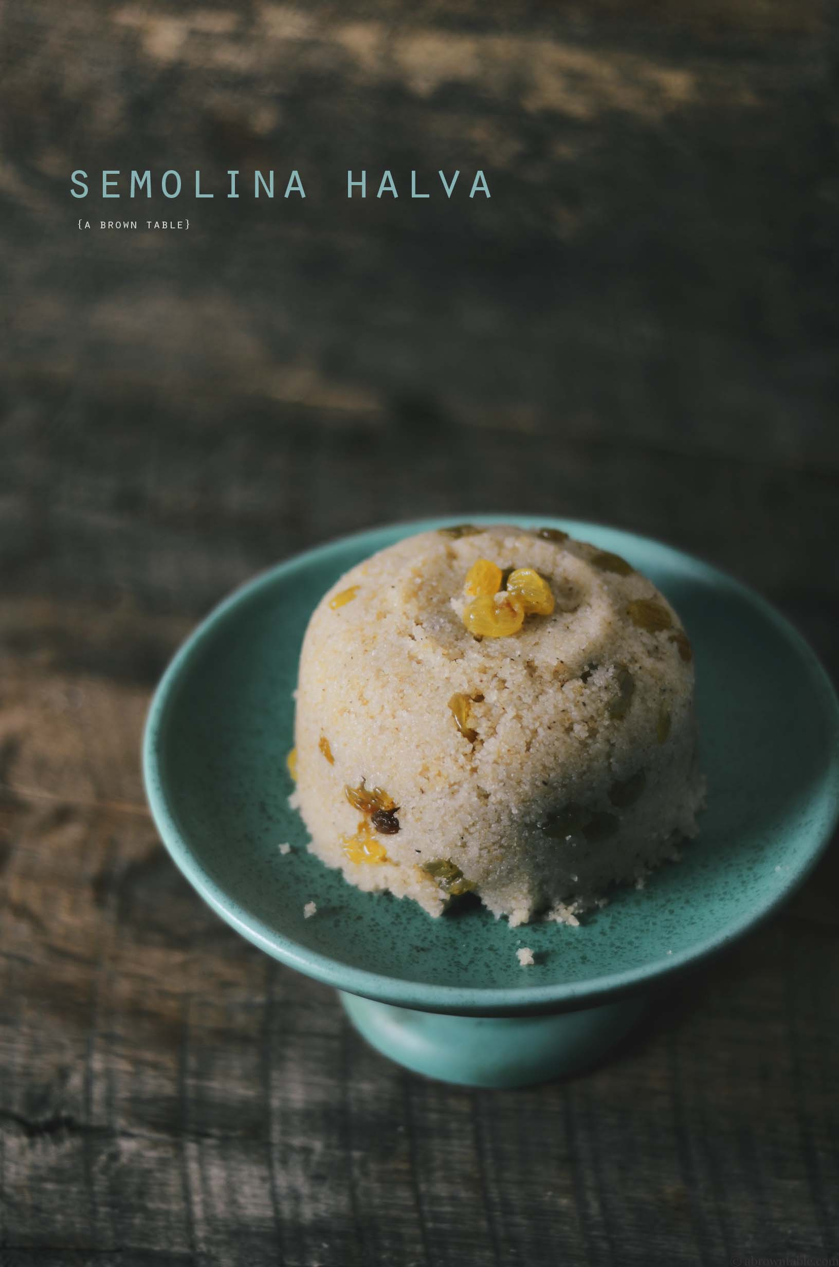 semolina halva with golden raisins